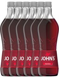 Johns Natural Strawberry Fruit Sirup 6 x 0,7 Liter