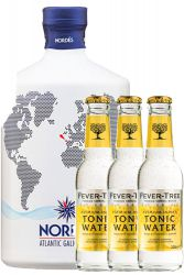 Nordes Atlantic Gin 0,7 Liter + 3 Fever Tree Tonic 0,2 Liter