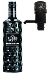 Three Sixty Black 42 Vodka 3,0 Liter + Three Sixty Pumpe