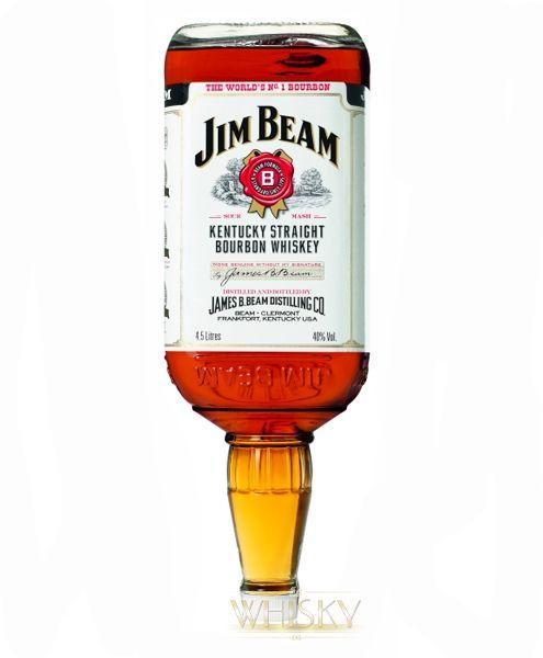 jim beam straight bourbon whiskey 4 5 liter flasche aus kentucky usa. Black Bedroom Furniture Sets. Home Design Ideas