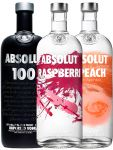 Absolut Paket  Black, Raspberry, Peach 3 x 1,0 Liter