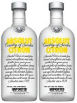 Absolut Vodka Citron 2 x 1,0 Liter