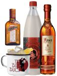 Asbach The Big Buck Set mit 1 x Asbach 8 Jahre 0,7 Liter, 1 x Thomas Henry Spicy Ginger 1,0 Liter, 1 x Cointreau 0,35 Liter und The Big Buck Tasse