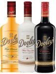 Dooleys-Mix 3 x 0,7 Liter Espresso Likör, Tropical und White Chocolate mit Wodka