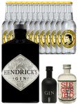 Gin-Set Hendricks Gin Small Batch 0,7 Liter + Black Gin Gansloser Deutschland 5cl + Siegfried Dry Gin Deutschland 4cl + 12 x Thomas Henry Tonic Water 0,2 Liter