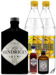 Gin-Set Hendricks Gin Small Batch 0,7 Liter + Haymans Sloe Gin 5cl + Monkey 47 Schwarzwald Dry Gin 5 cl MINIATUR + 2 x Goldberg Tonic Water 1,0 Liter