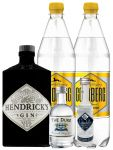 Gin-Set Hendricks Gin Small Batch 0,7 Liter + The Duke München Dry Gin 5 cl + Citadelle Gin aus Frankreich 5 cl + 2 x Goldberg Tonic Water 1,0 Liter