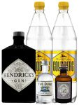 Gin-Set Hendricks Gin Small Batch 0,7 Liter + The Duke München Dry Gin 5 cl + Monkey 47 Schwarzwald Dry Gin 5 cl MINIATUR + 2 x Goldberg Tonic Water 1,0 Liter