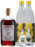 Gin-Set Monkey 47 SLOE GIN Schwarzwald Dry Gin 0,5 Liter + The Duke München Dry Gin 5 cl + Citadelle Gin aus Frankreich 5 cl + 2 x Thomas Henry Tonic Water 1,0 Liter