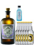 Gin-Set Monkey 47 Schwarzwald Dry Gin 0,5 Liter + Bombay Sapphire Gin 5 cl Miniatur + 6 Thomas Henry Tonic Water 0,2 Liter