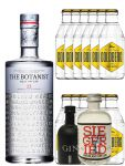 Gin-Set The Botanist Islay Dry Gin 0,7 Liter + Black Gin Gansloser Deutschland 0,05 Liter + Siegfried Dry Gin Deutschland 4cl + 12 x Goldberg Tonic Water 0,2 Liter