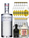Gin-Set The Botanist Islay Dry Gin 0,7 Liter + Black Gin Gansloser Deutschland 0,05 Liter + Siegfried Dry Gin Deutschland 4cl + 6 x Thomas Henry Tonic Water 0,2 Liter, 6 x Goldberg Tonic Water 0,2 Liter