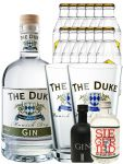 Gin-Set The Duke München Dry BIO Gin 0,7 Liter + Black Gin Gansloser Deutschland 0,05 Liter + Siegfried Dry Gin Deutschland 4cl + 12 x Goldberg Tonic Water 0,2 Liter + 2 x The Duke Long Drink Glas 0,3 Liter