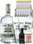 Gin-Set The Duke München Dry BIO Gin 0,7 Liter + Black Gin Gansloser Deutschland 0,05 Liter + Siegfried Dry Gin Deutschland 4cl + 12 x Thomas Henry Tonic Water 0,2 Liter + 2 x The Duke Long Drink Glas 0,3 Liter