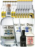 Gin-Set The Duke München Dry BIO Gin 0,7 Liter + Black Gin Gansloser Deutschland 0,05 Liter + Siegfried Dry Gin Deutschland 4cl + 6 x Thomas Henry Tonic Water 0,2 Liter, 6 x Goldberg Tonic Water 0,2 Liter + 2 x The Duke Long Drink Glas 0,3 Liter