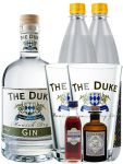 Gin-Set The Duke München Dry BIO Gin 0,7 Liter + Haymans Sloe Gin 5cl + Monkey 47 Schwarzwald Dry Gin 5 cl MINIATUR + 2 x Thomas Henry Tonic Water 1,0 Liter + 2 x The Duke Long Drink Glas 0,3 Liter