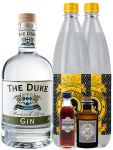 Gin-Set The Duke München Dry BIO Gin 0,7 Liter + Haymans Sloe Gin 5cl + Monkey 47 Schwarzwald Dry Gin 5 cl MINIATUR + 2 x Thomas Henry Tonic Water 1,0 Liter