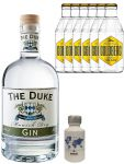 Gin-Set The Duke München Dry BIO Gin 0,7 Liter + Nordes Atlantic Gin 0,05 Liter Miniatur + 6 Goldberg Tonic Water 0,2 Liter