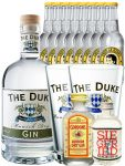 Gin-Set The Duke München Dry BIO Gin 0,7 Liter + Siegfried Dry Gin Deutschland 4cl + Gordons Dry Gin 5 cl + 8 Thomas Henry Tonic Water 0,2 Liter + 2 x The Duke Long Drink Glas 0,3 Liter