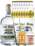 Gin-Set The Duke München Dry BIO Gin 0,7 Liter + Siegfried Dry Gin Deutschland 4cl + Gordons Dry Gin 5 cl + 8 x Goldberg Tonic Water 0,2 Liter + 2 x The Duke Long Drink Glas 0,3 Liter