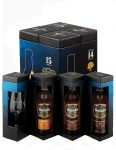 Glenfiddich Pioneers Collection 14-21 Jahre Set 3 x 0,2 Liter plus Glas