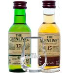 Glenlivet Mini Collection 2 x 5 cl mit Nosingglas