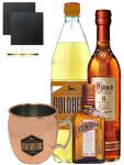 Goldberg The Big Buck Set mit 1 x Asbach 8 Jahre 0,7 Liter, 1 x Goldberg Intense Ginger 1,0 Liter, 1 x Cointreau 0,35 Liter, Goldberg Trinkbecher + 2 Schieferuntersetzer