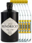 Hendricks Gin Small Batch 0,7 Liter + 6 Goldberg Tonic Water 1,0 Liter