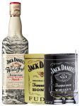Jack Daniels Winter Jack Apple Whisky Punch 0,7 Liter + 300g JD`s HONEY Fudge & 300g JD`s Whisky Malt Fudge + 2 Glencairn Gläser und Einwegpipette