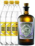Monkey 47 Gin & 3 x 1,0 Liter Goldberg BIG Tonic Set