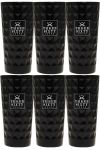 Three Sixty black Vodka Glas 6 Stück (black)